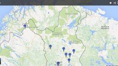 10 liens utiles pour choisir sa destination en Laponie finlandaise. #laponie #lapland #traveltips #onlyinlapland #visitfinland Destinations, Voici, Map, Places, Location Map, Maps, Travel Destinations, Lugares