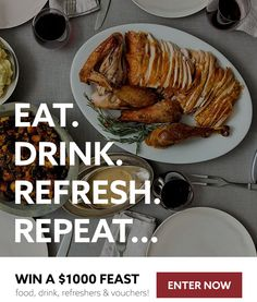 Enter For a Chance to Win a Feast on Us!  Holiday Feast Sweepstakes