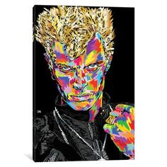 "East Urban Home Billy Idol Graphic Art on Wrapped Canvas Size: 60"" H x 40"" W x 1.5"" D"