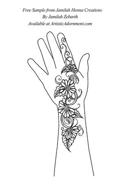 Jamilah Henna Creations by Jamilah Zebarth - $10.00 : Artistic Adornment, Henna Supplies - henna tattoo kits, henna powder, professional mehndi supplies
