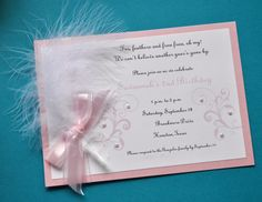 Soft & Sweet Invitation by tickledplum on Etsy, $40.00
