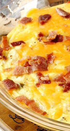 Baked Potato Bacon Egg Breakfast Skillet