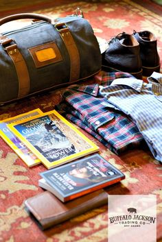 Great collection of men's fashion and accessories for the rugged gentleman: leather, outerwear, shirts, bags, and shoes for the man who travels for work, play, or anywhere in between.
