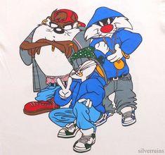 LOONEY TUNES Vintage T Shirt 90's RAP HIP HOP Bugs Bunny TAZ Sylvester | Clothing, Shoes & Accessories, Men's Clothing, T-Shirts | eBay!
