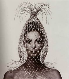 Vogue Cover (Cage on Wilhelmina), Paris, 1965    By Irving Penn
