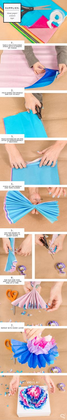 DIY gift wrapping idea with paper