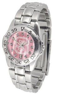 NCSU NC State Wolfpack Ladies Pink Designer Dress Watch SunTime. $72.95