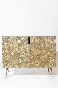 Sharon Turner pencil pinatas Credenza | DENY Designs Home Accessories #pinata #denydesigns #sharonturner #illustration #art #animal #kids #nursery #owl #fox #penguin #clown #baby #zebra #cute #credenza #furniture