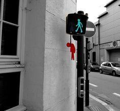 Street Art by French artist Oakoak