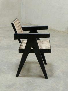 Jeanneret in black!  projectchandigarh.com #pierrejeanneret #lecorbusier #midcenturymodern #modernism