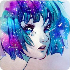 She wears constellations in her hair...
