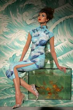 MAC Cosmetic Artists Show Off Talents for Cheongsam Exhibition