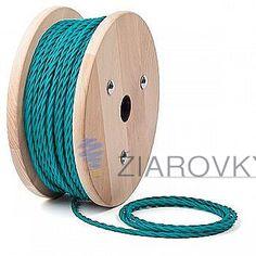 Kábel dvojžilový skrútený v podobe textilnej šnúry v modrej farbe môže byť krásnym prírastkom do vašej existujúcej lampy, svietidla alebo iného spotrebiča (1)