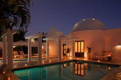 Room Exterior Oceanfront Pool Villa Night Cap Juluca, Anguilla - www.capjuluca.com