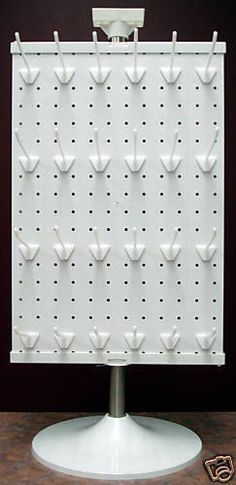 3 Sided Counter Top Peg Board Spinner Rack Display with Hooks   Business & Industrial, Retail & Services, Racks & Fixtures   eBay!