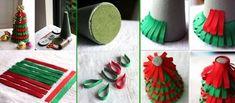 10 DIY Desktop Christmas Tree Topiaries with Styrofoam | www.FabArtDIY.com