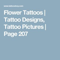 Flower Tattoos | Tattoo Designs, Tattoo Pictures | Page 207