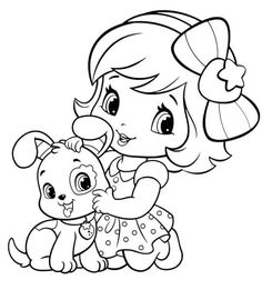 Coloring Pages - Little Girl | KIDS ZONE - COLORING PAGES GALORE ...