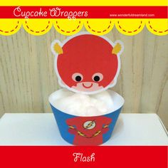 Printable Digital PDF File  Cupcake Wrappers by clipartsuperstore, $2.00