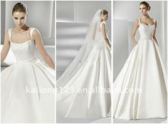 Aliexpress.com : Buy Stylish Cap Sleeves Chapel train Beaded Embroidery Satin Ball Gown