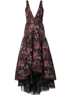 Compre Marchesa Notte Vestido com estampa floral.