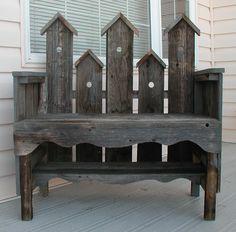 Barnboard bench.