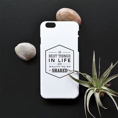The best things in life are meant to be shared   NYscape Typography iPhone case  -Matte White