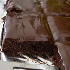 Brownie Sheet Cake Recipe ~ Delicious!