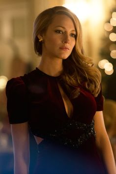 Red velvet dress Blake Lively Beauty From The Age Of Adaline
