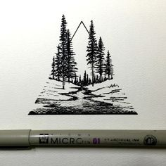Geometric Tattoo.  Forest Tattoo.  Tree Tattoo.  -MF