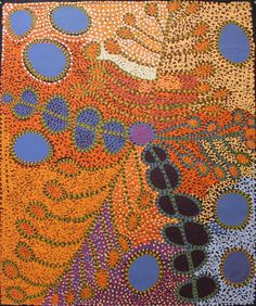 Ruby Tjangawa Williamson / Ultukunpa – Honey Grevillea 2012 122 x Aboriginal Painting, Aboriginal Artists, Dot Painting, Indigenous Art, Australian Artists, Land Art, Art Forms, Altered Art, Unique Art