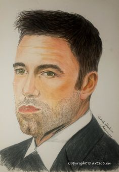 A portrait of Ben Affleck - speed drawing video - Art365