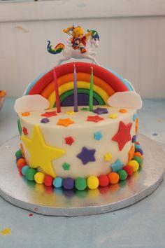 Rainbow Brite cake - this may be an amazing 1st birthday theme!