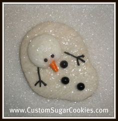another melting snowman cookie