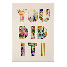You Did It! Confetti Shaker Card