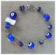 R186 Blue Bracelet  Visit us: http://artebijuarmanda.blogspot.pt/
