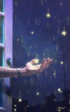 Raining of Stars, Goodnight Galaxy Wallpaper, Wallpaper Backgrounds, Digital Foto, Star Illustration, Meteor Shower, Star Art, Girly Pictures, Anime Scenery, Moon Art