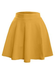 LE3NO Womens Textured Flared Skater Skirt