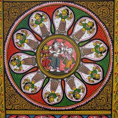 Ganesha with Shiv & Parvati coloured- Odisha Pattachitra on Canvas – Heart for Art Online Black Canvas Paintings, Indian Art Paintings, Small Paintings, Madhubani Paintings Peacock, Madhubani Art, India Painting, Painting Art, Fabric Paint Designs, Mehndi Art Designs