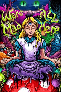 Trippy Drawings, Art Drawings, Art Hippie, Alice In Wonderland Drawings, Arte Dope, Eleanor And Park, Psychadelic Art, Theme Tattoo, Trippy Painting