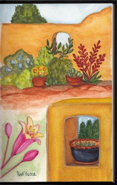 This is a garden collage illustration done mostly from memory.