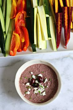This savory party appetizer is perfect with crudités or crackers. It tastes JUST like the kalamata olive dip at True Food Kitchen.