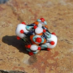 Booger Beads Focal Bead - DESTASH of koregons artist bead collection by koregon on Etsy