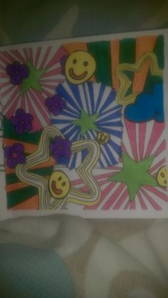 @stuartsemple 1st page completed of my #HappyBook. Great designs! #colouringin #relaxation #Fridaynightcolour