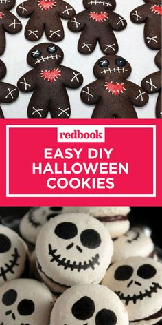 24 Best Halloween Cookie Recipes - Spooky Halloween Cookie Ideas - You don't need a Ph. in cookie decorating to make these seriously impressive treats. Halloween Desserts, Halloween Cupcakes, Spooky Halloween, Chocolat Halloween, Hallowen Food, Dulces Halloween, Halloween Torte, Halloween Backen, Halloween Cookie Recipes