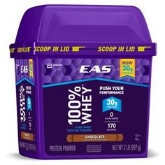 EAS 100% Pure Whey Protein Powder, Chocolate, 2lb (Packaging May Vary)