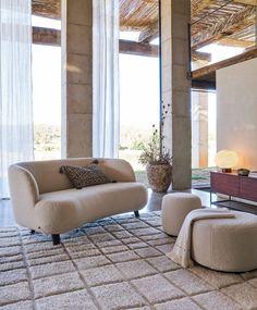 Canapé 3 places xs rosebury design par e gallina craie Am. Am Pm, Decoration, Lana, Designer, Armchair, Couch, Living Room, Furniture, Home Decor