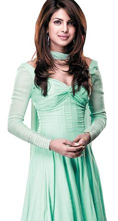 Priyanka chopra in mint anarkali