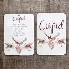 Christmas Wedding Seating Plan And Table Names