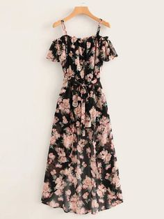 Florals Belted Chiffon Romper With Skirt Overlay -. - - Florals Belted Chiffon Romper With Skirt Overlay -… – Source by - Cute Casual Outfits, Pretty Outfits, Pretty Dresses, Casual Dresses, Summer Dresses, Floral Spring Dresses, Floral Outfits, Casual Clothes, Long Dresses